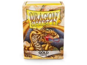Pochettes Standard x100 Dragon ShieldMatte : Gold