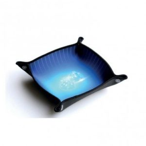 Tapis Piste de Dés Pliable 21x21cm : Bleu