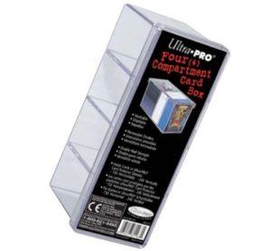 Boite de Rangement 4 Cases Ultra pro : Transparent