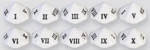 Dés 10 à l'unité: Chiffres Romains (I-X)