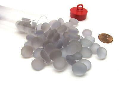 tube de 40 billes plates chessex frosted crystal clear 2 jeux Toulon L Ataniere.jpg   Jeux Toulon L'Atanière