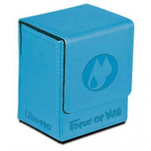 deck box simili cuir force of will water bleu 1 jeux Toulon L Ataniere.jpg   Jeux Toulon L'Atanière