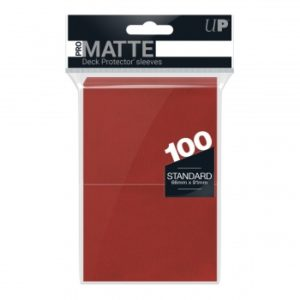 Pochettes format Standard Ultra Pro Matte (x100) : Rouge