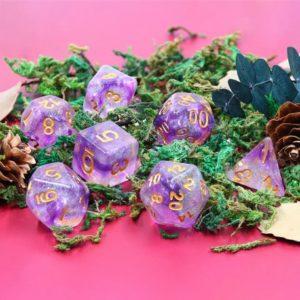 Set de 7 Dés : Electric Ivy w/Gold