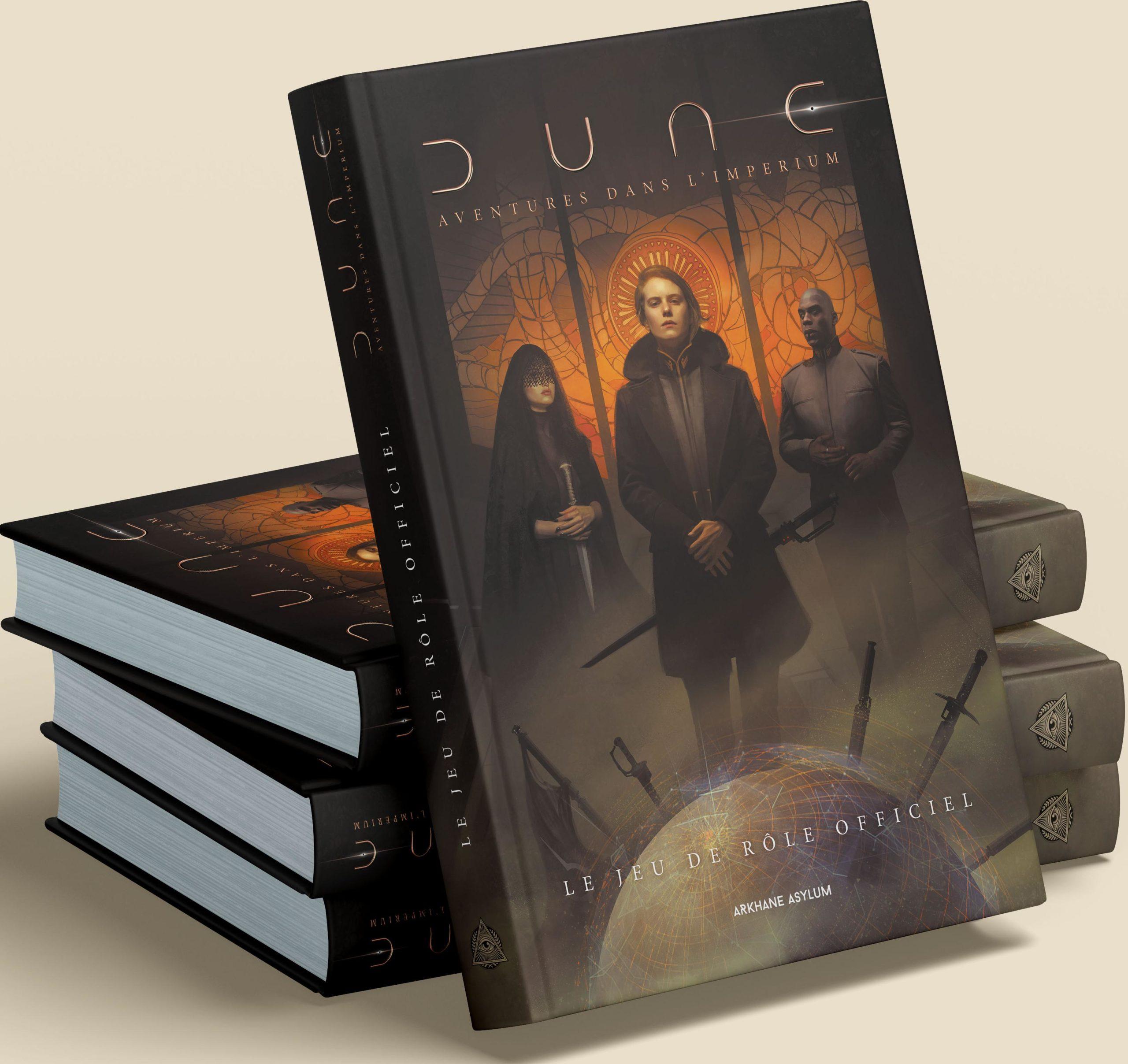 Dune Aventures dans l Imperium pile de livres de base Arkhane Asylum | Jeux Toulon L'Atanière